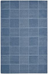 Rug Squared Tribeca Simple Contemporary Modern Area Rug (TRB31), 8-Feet by 10-Feet 6-Inches, Blue
