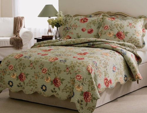 Great Deal! Lifestyle Eden's Garden 3-Piece Quilt Set, King