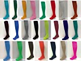 Midweight Solid-Color Tube-sock, ADULT size in 21 colors