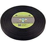 Country Brook Design 1 Inch Heavy Black Polypro Webbing, 25 Yards