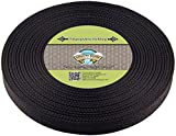 Country Brook Design® 1 Inch Black Polypro Webbing, 25 Yards
