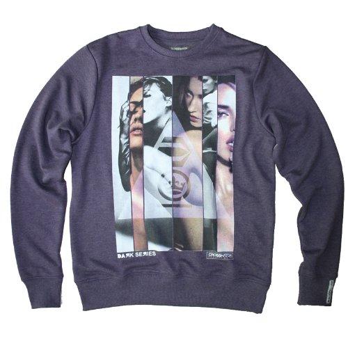 Crosshatch men's slice girl sweatshirt, deep purple marl marl XL