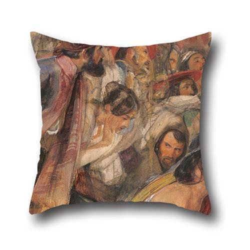 20 X 20 Inch / 50 By 50 Cm Oil Painting John Frederick Lewis - Study For The Proclamation Of Don Carlos Cushion Covers,twice Sides Is Fit For Teens,valentine,dance Room,wedding,drawing Room