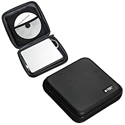 For Samsung Ultra-Slim Black Optical Drive / Portable External DVD CD Blu-ray Writer / Apple USB Superdrive Travel Hard EVA Carrying Case Bag with 6 CDs Mesh Pockets by Hermitshell