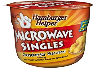Hamburger Helper Cheeseburger Mac, Microwaveable Cup, 1.6-Ounce Boxes (Pack of 12)