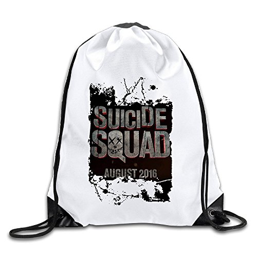 Waterproof Breathability Customized Suicide Squad Will Smith Jared Leto Ayer Drawstring Tote Shoulders Backpack Drawstring Backpack Cinch Sack