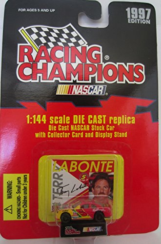 1997 Edition Racing Champions Terry Labonte #5 Kellogg's 1:144 Scale Replica Die Cast Replica w/Collector Card and Display Stand - 1