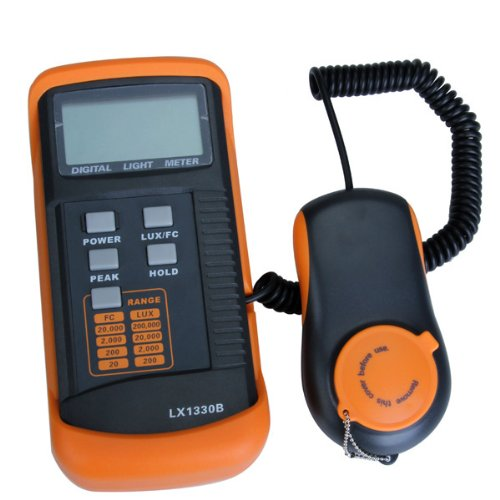 Light Meter LX1330B , 0 - 200,000 Lux Luxmeter