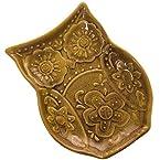 Owl Tidbit Plate - Gold