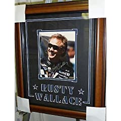 Rusty Wallace Autographed Photo - 8x10 Framed UD COA - Autographed NASCAR Photos by Sports Memorabilia
