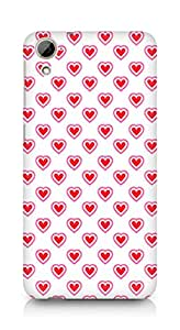 Amez designer printed 3d premium high quality back case cover for HTC Desrie 826 (Heart Pattern7)
