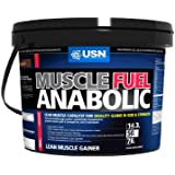 USN Muscle Fuel Anabolic Lean Muscle Gain Shake Powder, Strawberry - 4 kg