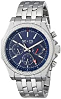 SO&CO York Men's 5003.3 Monticello Analog Display Japanese Quartz Silver Watch from SO&CO New York