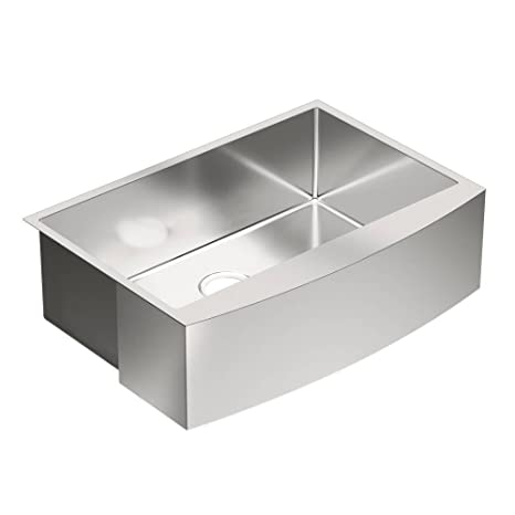 Moen G18121 1800 Series Steel 18-Gauge Single Bowl Sink, Stainless