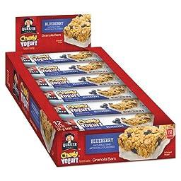 Quaker - Chewy Yogurt Granola Bars, 1.23 oz Bar, Blueberry, 12/Box, 31569 (DMi BX