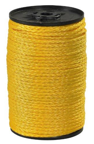 Aviditi TWR114 Polypropylene Hollow Braid Rope, 1000' Length x 1/4