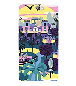PrintVisa Colorful Beach Resort 3D Hard Polycarbonate Designer Back Case Cover for COOLPAD MAX