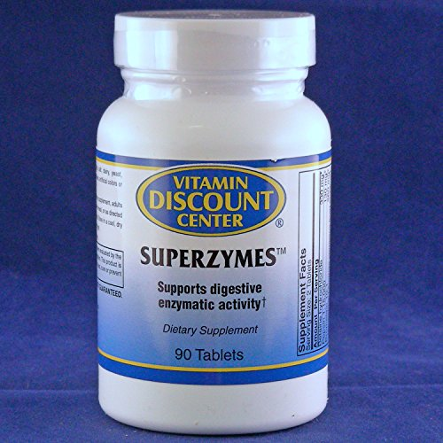 Superzymes Digestive Enzyme Supplement By Vitamin Discount Center – 90 Tablets