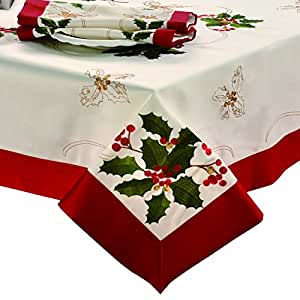how to get yellowing out of embroidered tablecloth