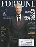 Fortune 2014 April 7 - Bill Clinton #5 . The Worlds 50 Greatest Leaders and What You Can Learn From Them