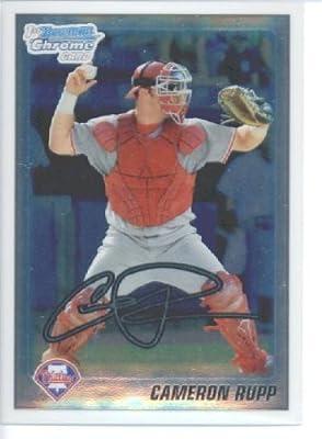 2010 Bowman CHROME Draft Picks and Prospects Baseball Card # BDPP41 Cameron Rupp - Philadelphia Phillies (Draft Pick - Prospect - RC - Extended Rookie Card) MLB Trading Card