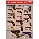 J-4022 Bbgun Guns Collection Poster Size 24'x35'inch. Rare New - Wall Decoration Image Print Photo