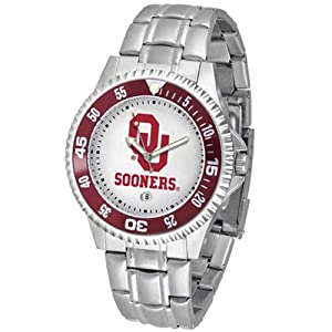 Oklahoma Sooners NCAA Competitor Mens Watch (Metal Band) by SunTime