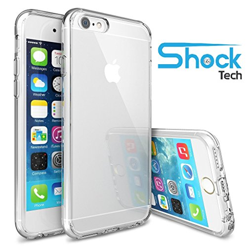 iPhone 6 Case, Shock Tech iPhone 6s Case 4.7 Inch Soft Transparent TPU Gel [Crystal Clear] [Slim Fit] [1mm Ultra Thin] Silicone Protective Skin for iPhone 6s / iPhone 6 (Transparent) (Protective Iphone 6 Case Silicone compare prices)