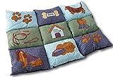 Weiche Hundedecke Hundebett Hundekissen Hundeschlafplatz Tierdecke Tierbett Hunde Tier Decke Kissen 78 x 45 cm Farbmuster mit türkis