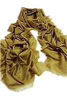 Prettystern - 250cm 80% Wool 20% Silk metallic Luster stylish solid Woman & Man Pashmina Shawl - 8 Colors