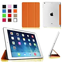 Fintie iPad Air Ultra Slim Lightweight Case with Semi Transparent Hard Shell Support Smart Cover Auto Wake / Sleep for Apple iPad Air (5th Gen) - Orange/Frost from Fintie