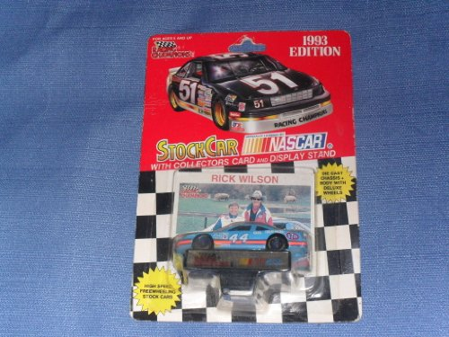 1993 NASCAR Racing Champions . . . Rick Wilson #44 STP 1/64 Diecast . . . Includes Collectors Card and Display Stand . . . Richard Petty is in Photo - 1