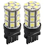 2 T20 3157 Pure White 5050 SMD 27 LED...