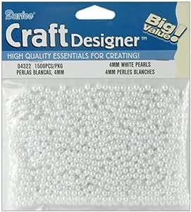 Darice 4mm Loose Pearls - 1500PK/White
