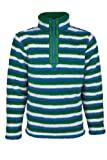 Mountain Warehouse Yeti Kids Warm Thermal Fleece Half Zip Turtleneck Striped Top Jacket Jumper