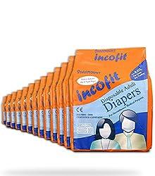 Incofit Adult Diapers (Premium )-Medium pack of 120...