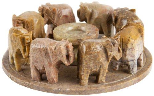 Berk ST-020 - Incensario de piedra, diseño de elefantes