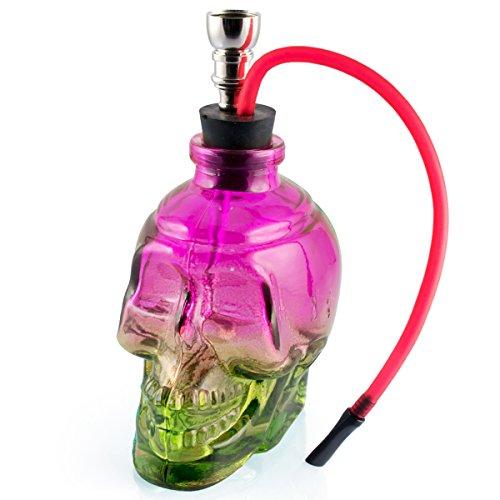 Formax420-Mini-Portable-6-Height-Tobacco-Hookah-Glass-Shisha-Hose-Pipe-bluepurple