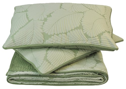 Sleeping Partners Leaf Quilt/Sham Set, Queen