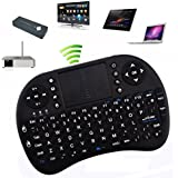 Rii Mini i8 2.4G Wireless 92 Keys Keyboard with Touchpad for Google TV Box/PS3/PC Black