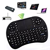 Rii 2.4GHz Mini i8 Wireless Rechargeable Keyboard Mouse with Touchpad Fly Air Mouse for PC/PAD/XBox360/PS3/Google Android TV Box/HTPC/IPTV/Raspberry Pi (Black)