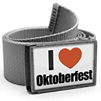 "NEONBLOND Belt ""I Love Oktoberfest German Holiday"" - with buckle"