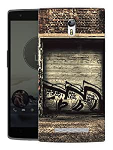 "Humor Gang Grungy Garage Graffiti Printed Designer Mobile Back Cover For ""Oppo R7"" (3D, Matte, Premium Quality Snap On Case)"