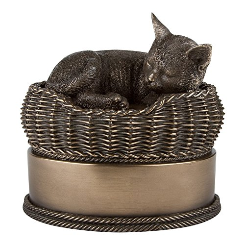 Perfect Memorials Cat in Basket - Pet Cremation Urn (Pet Urns For Outside compare prices)