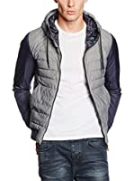 Herno Chaleco Plumas Hooded Zip (Gris)