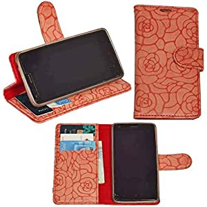 R&A Pu Leather Wallet Flip Case Cover With Card & ID Slots & Magnetic Closure For Samsung Wave 525