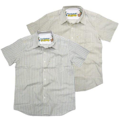 ELWOOD(エルウッド)ストライプ 半袖シャツ カジュアル DAN'S PLAID 縦縞 マークゴンザレス スケーターブランド メンズ アメカジ L TYPE:A