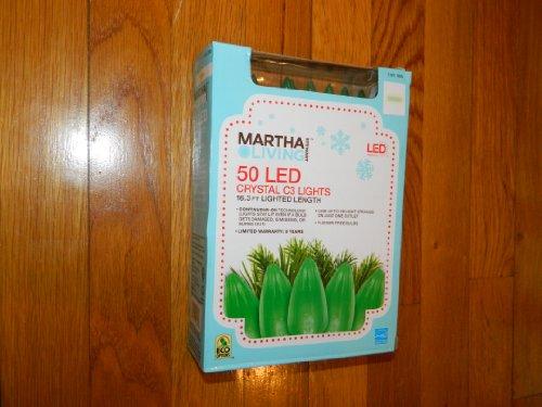Martha Stewart Living Green Led C3 Crystal 50-Light Set