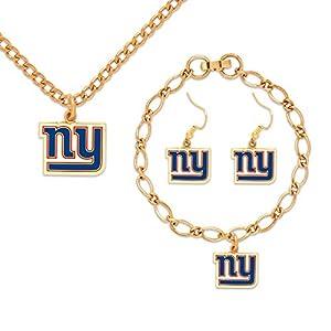 York Giants Halskette Armband Ohrringe Set by Wincraft