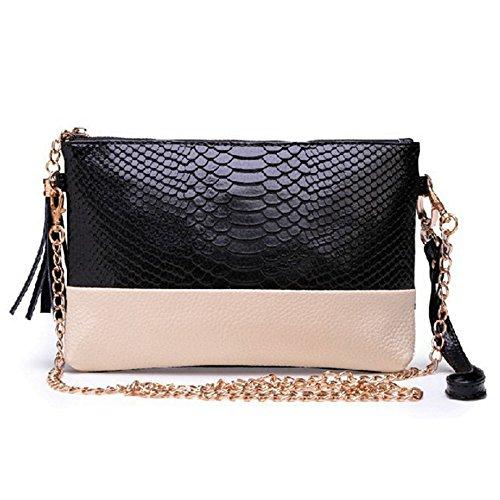 D.jiani® Europee e americane modello in pelle di coccodrillo borsa da sera del messaggero della spalla catena borsa pochette piccola sezione